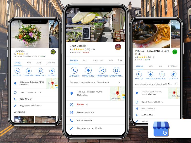 Création de page pro sur Google my business