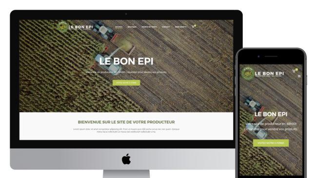 Site e-commerce pour les producteurs